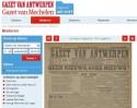 Schermafbeelding Digitaal Archief met krant uit WO I