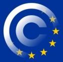 Copyrightteken samengesmolten met Europese vlag