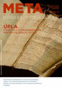 Voorpagina van META met muziekhandschrift