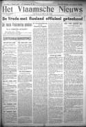 Voorpagina van Het Vlaamsche Nieuws op 5 maart 1918