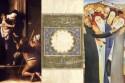 Voorbeelden van werken uit de tentoonstelling, voor elke godsdienst één