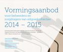 Voorpagina brochure 'Vormingsaanbod 2014-2015'