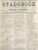 Voorpagina van krant 'De Stadsbode'