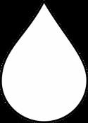 Iconische weergave van een druppel