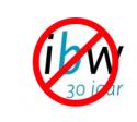IBW 30 jaar-logo met verbodskader