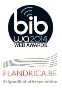 Logo's Bib Web Award 2014 en Flandrica.be