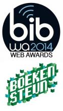 Logo's Bib Web Award 2014 en Boekensteun