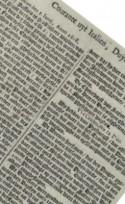 Historische krant met gothische letters