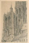 De toren van de kathedraal van Antwerpen, 1929 (?), etser Jules de Bruycker
