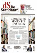 Voorpagina De Standaard met kop 'Gemeenten mogen bib opdoeken'
