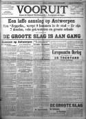 Voorpagina Vooruit, 26 augustus 1914