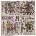 Tekeningen van Azteekse mythologische figuren