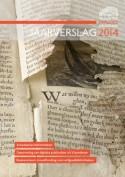 Cover jaarverslag met gescheurde pagina oude druk