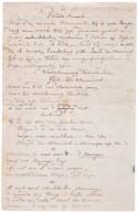 Manuscript van het gedicht