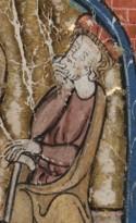 Detail uit een miniatuur op folio 129 verso van de Rijmbijbel