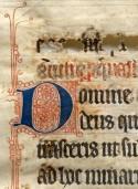 Manuscript met inktvraag (letters vallen uit het papier)