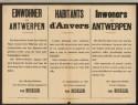 Oorlogsplakkaat uit collectie Erfgoedbibliotheek Hendrik Conscience