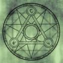 Foto van een occult symbool