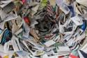 Foto van een kolkende overvloed aan boeken