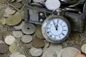 zakhorloge en munten