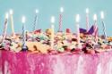 Verjaardagstaart met tien kaartjes