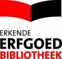 Logo voor erkende erfgoedbibliotheken