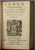Index boeken jezuïeten (STCV 6671408)