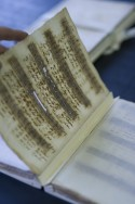 Partituur met inktvraat