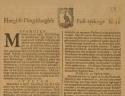 Voorpagina van de Haegse post-tydinge van 12 mei 1671