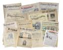 Voorpagina's van uiteenlopende historische kranten