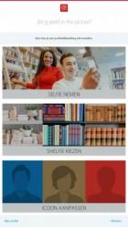 Keuzescherm met opties Selfie, Shelfie en Icoon aanpassen