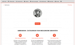 Startscherm van de Abraham-catalogus
