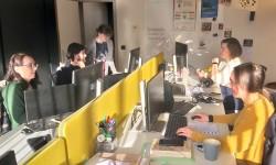 Team van de Vlaamse Erfgoedbibliotheken aan het werk