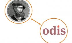 Logo's van Abraham en ODIS met een wederkerige pijl tussen