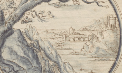 Illustratie uit Emblemate de fide, spe, charitate' van Guilielmus Hesius