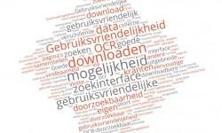Wordcloud noden van gebruikers gedigitaliseerde kranten