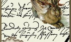 Logo Transkribus met historisch document en een jackalope