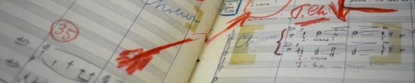 Partituur met aantekeningen